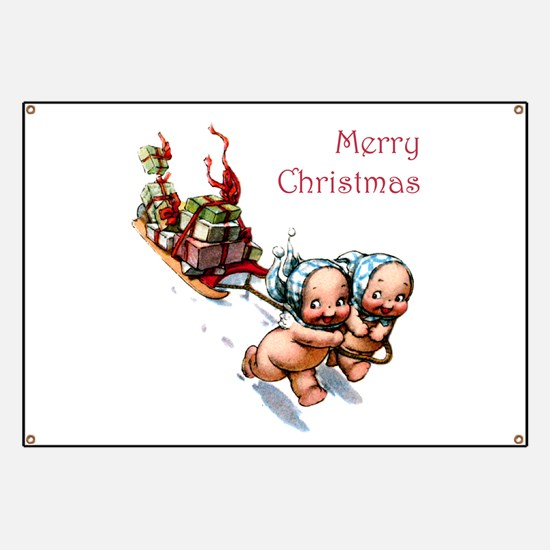 Cupies Christmas Sleigh Banner