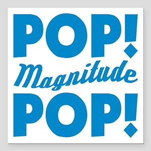 "Community Pop Pop Magnitude Square Car Magnet 3"" x"