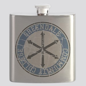 Greendale Community College Vintage Flask
