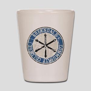 Greendale Community College Vintage Shot Glass