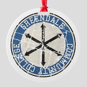Greendale Community College Vintage Round Ornament