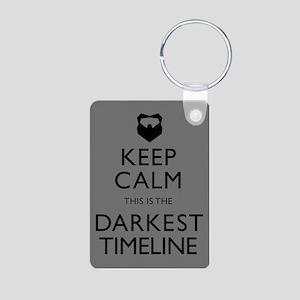 Keep Calm Darkest Timeline Community Keychains