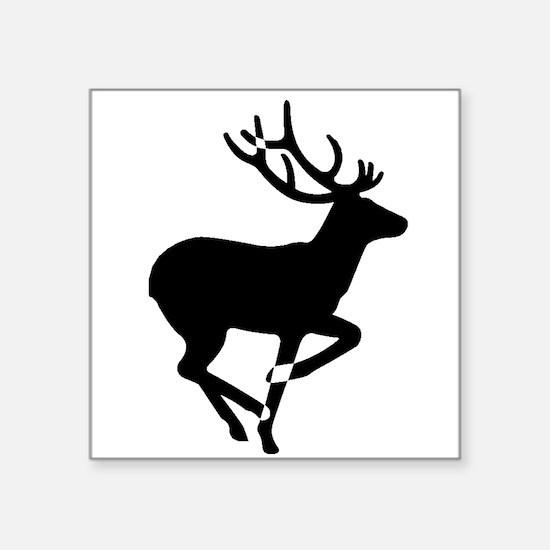 running deer silhouette sticker