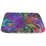 Glowing Burst of Color Abstract Bathmat