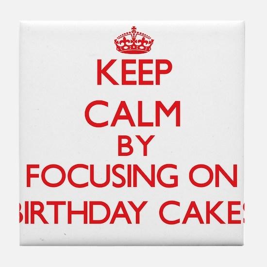 Birthday Cakes Tile Coaster