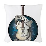 WooFPlay Band Logo Woven Throw Pillow