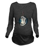 WooFPlay Band Logo Long Sleeve Maternity T-Shirt