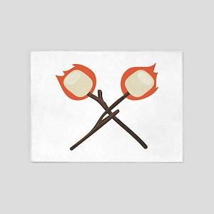 Marshmallow Flame 5'x7'Area Rug