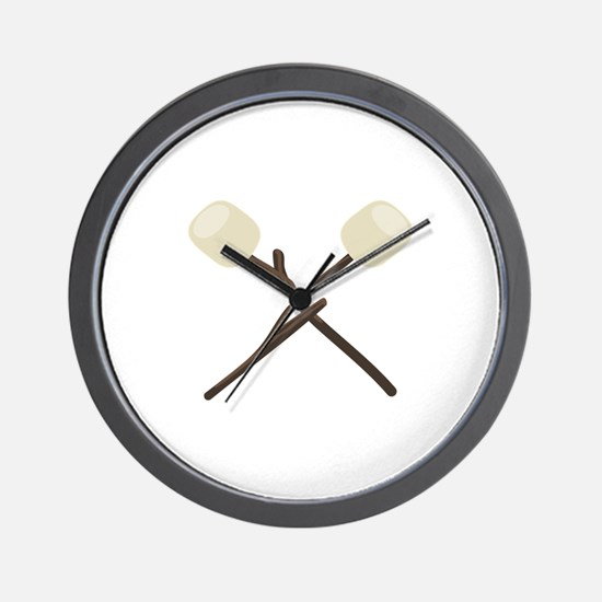 Camp Marshmallows Wall Clock