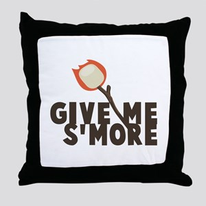 Give Me Smore Throw Pillow