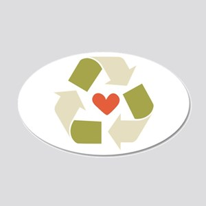 Recycle Hearts Wall Decal