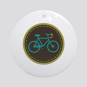 Bicycle Circle Ornament (Round)