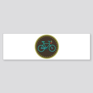 Bicycle Circle Bumper Sticker