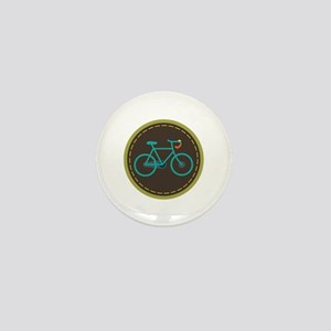 Bicycle Circle Mini Button