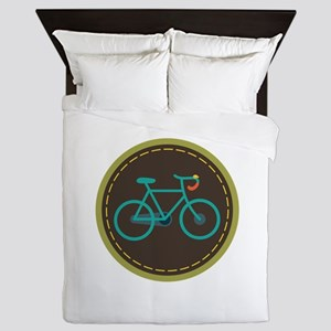 Bicycle Circle Queen Duvet