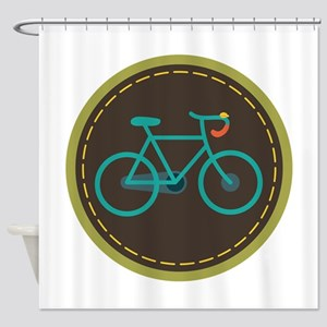 Bicycle Circle Shower Curtain