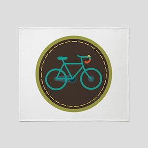 Bicycle Circle Throw Blanket