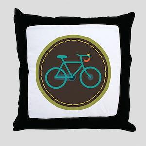 Bicycle Circle Throw Pillow