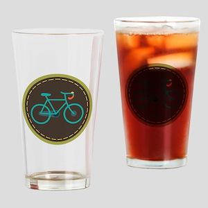Bicycle Circle Drinking Glass