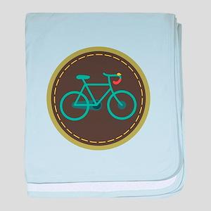 Bicycle Circle baby blanket