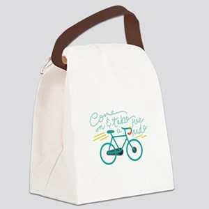 Come Ride Canvas Lunch Bag