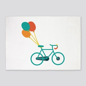 Balloon Bike 5'x7'Area Rug