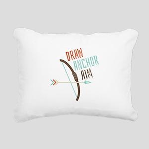 Draw Anchor Aim Rectangular Canvas Pillow