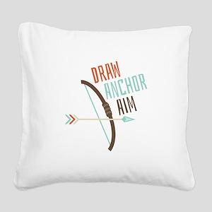 Draw Anchor Aim Square Canvas Pillow