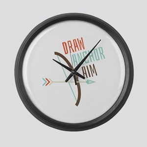 Draw Anchor Aim Large Wall Clock