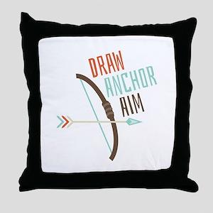 Draw Anchor Aim Throw Pillow