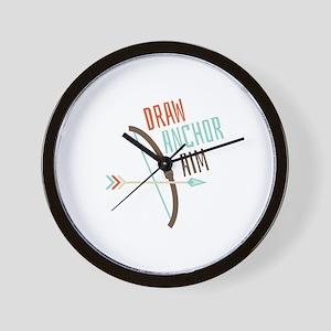 Draw Anchor Aim Wall Clock