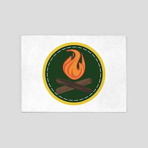 Campfire Circle 5'x7'Area Rug