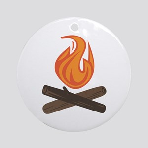 Fire Wood Ornament (Round)