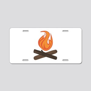 Fire Wood Aluminum License Plate