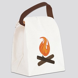 Fire Wood Canvas Lunch Bag