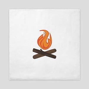 Fire Wood Queen Duvet