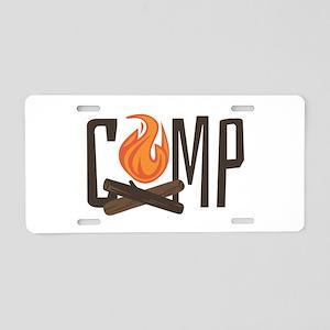 Camp Fire Aluminum License Plate
