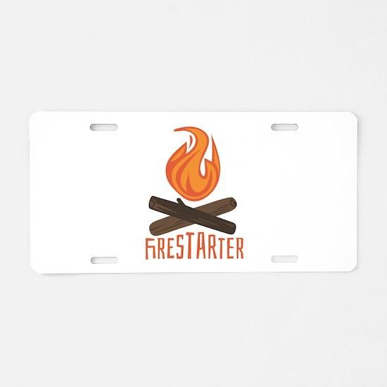 Firestarter Campfire Aluminum License Plate