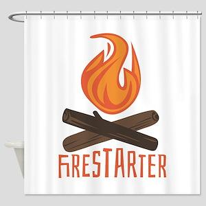Firestarter Campfire Shower Curtain