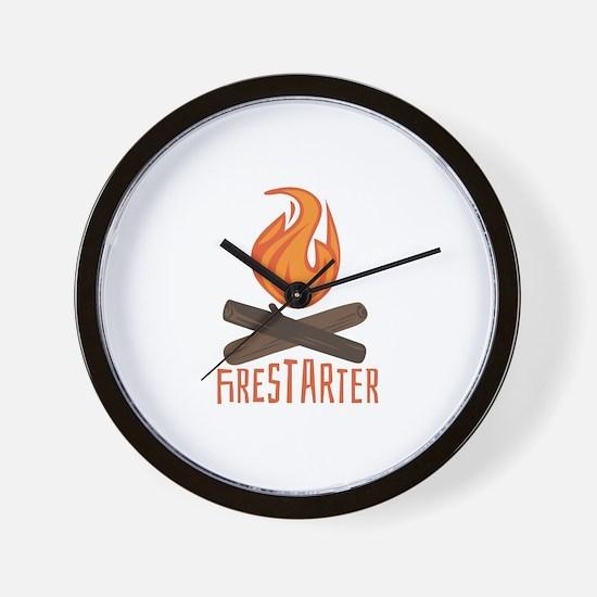 Firestarter Campfire Wall Clock