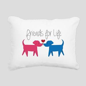 Friends For Life Rectangular Canvas Pillow