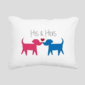 His & Hers Rectangular Canvas Pillow
