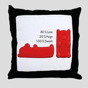 Candy Bears Throw Pillow