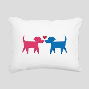 Puppy Love Rectangular Canvas Pillow