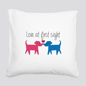 Love @ First Sight Square Canvas Pillow