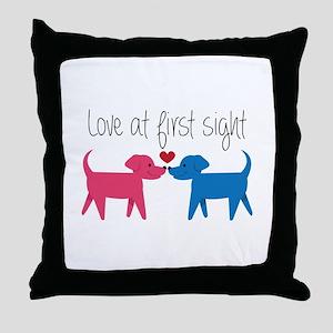Love @ First Sight Throw Pillow