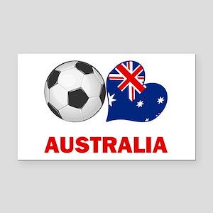 Australia Soccer Rectangle Car Magnet