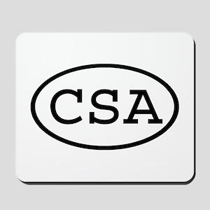CSA Oval Mousepad