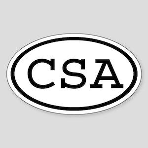 CSA Oval Oval Sticker