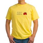 Christmas Strawberries Yellow T-Shirt